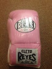 Cleto Reyes pink leather 10oz professional fight gloves