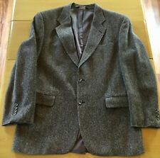 Vintage JoS A Bank Harris Sport Coat Mens 42L Herringbone Sports Jacket Normcore