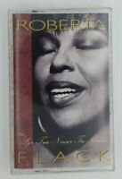 Roberta Flack Cassette Set the Night to Music 1991 Atlantic Records Tape