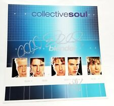 """Collective Soul REAL hand SIGNED 12x12"""" Blender Promo Album Flat COA Autographed"""