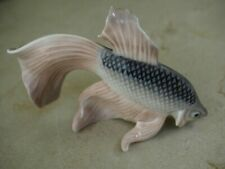 Vintage Royal Copenhagen Denmark Fantail Fish Rare Porcelain Figurine #3064 Mint