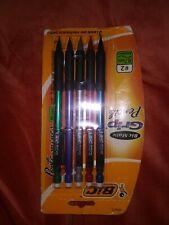 Bic Matic Grip 5 Pack Mechanical Pencils 0.7 mm Medium # 2 Rubber Grip