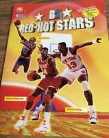 Vintage 1993 NBA Red Hot Stars Magazine 16 Fleer Cards Poster Basketball Sports