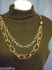 SWAROSKI vetro perline di vetro smerigliato, XXL-Lang-Catena Collana-Argento, 90cm
