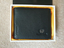 Honda Classic Mens Black Leather Wallet With I.D. Card & Zipped Coins Holder
