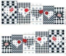 Nail Art Calcomanías Traslados Pegatinas patrón de tablero de ajedrez Amor (A-127)