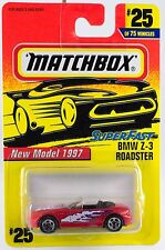 Matchbox BMW Z-3 Roadster MB 25 Superfast Red 1997 New On Card