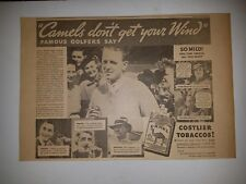 Craig Wood Gene Sarazen Denny Shute Bill Mehlhorn 1935 Camel Cigarette Ad Golf