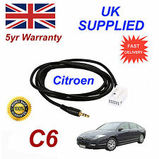 Citroen C6 AUX 3.5mm Input Audio cable High Quality Sound MY 05-