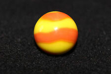"Akro Agate Prize Name Corkscrew Marble Yellow & Orange 5/8"" Mint"