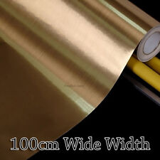 Gold Metal Contact Paper Rolls Countertop Cabinet 100cm Wide Glossy Wallpaper