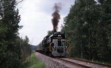 ADIRONDACK SCENIC RAILROAD Locomotive 8223 NY Original 2001 Photo Slide