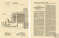 PRODUCTION of NUCLEAR URANIUM 1945 US Patent Art Print READY TO FRAME!!!!!