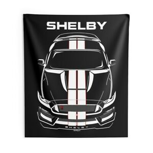 Ford Mustang Shelby GT350R 2015 - 2020 - White Stripes - Wall Tapestry - GT350 R