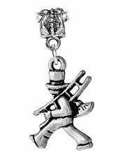 Chimney Sweep Contractor Ladder Dangle Charm for Silver European Bead Bracelets