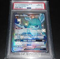 PSA 10 GEM MINT Glaceon GX SV55/SV94 SM Hidden Fates SHINY HOLO Pokemon Card