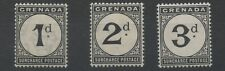 Grenada SGD8-10 1906-11 1d to 3d Postage Due Mounted Mint P14