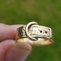 stunning 9ct Gold Buckle Ring size P