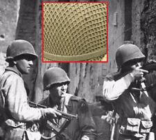 Original Wwii Woven Square Pattern M1 Helmet Net from Us Gi Od Camo Shrimp Net