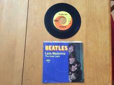 "THE BEATLES ""LADY MADONNA/THE INNER LIGHT"" 45 W/PIC SLEEVE EAST COAST TAB"