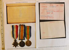 Military WWI Trio Medal Group Wounded Tunnel Depot Company Tunnelling Coy (2906)