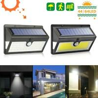44/64 LED Solar Power Light PIR Motion Sensor Security Outdoor Garden Wall Lamp