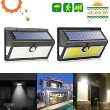 44/64 LED Solar Power Light PIR Motion Sensor Security Outdoor Garden Wall Lamp