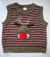 Boys Age 0-3 Months - Next Christmas Sleeveless Jumper