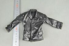 "Custom 1/6 Scale Black Leather Jacket Accessory For 12"" Action Figure In Stock"