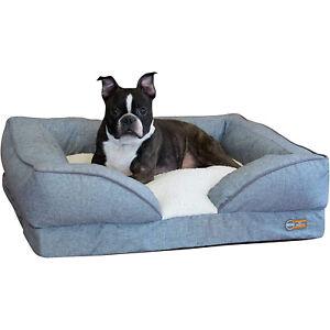 K&H Pet Products Medium Pet Comfy Pillow Top Orthopedic Dog Bed Lounger, Gray