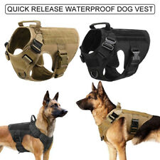 Military Tactical Dog Harness No Pull Training Vest Adjustable Quick Release