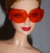 SUNGLASSES  ~ BARBIE DOLL MATTEL MODEL MUSE THE LOOK DEEP ORANGE LENS GLASSES