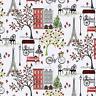 Paris Street View Paris Stroll *CHOOSE COLOUR*  Quilting Fabric FQ