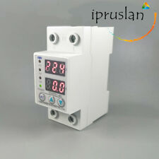 Under Over Voltage Current Protector LCD Relay 63A 220V 50Hz Automatic Recovery
