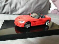 Rare AutoART Dodge Viper SRT-10 2003 Red  1/43
