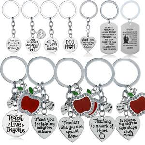 Pet Paw Jewelry Mom Dad Teacher Friend Keyrings Family Charm Keychains