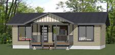 36x20 House -- 2 Bedroom 2 Bath -- 720 sq ft -- PDF Floor Plan -- Model 2