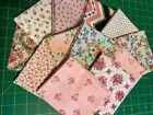 12 pieces true vintage fabric-pinks-1930s-1970s-8 FQ,2 LQ,2 thirds-cotton