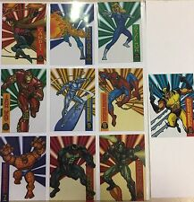 1994 Marvel Universe SUSPENDED ANIMATION Set of 10 Cards