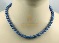 Kyanit Kette -  runder blauer Disthen Halskette für Damen 45,5 cm