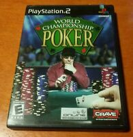World Championship Poker Sony PlayStation 2 PS2 Crave Entertainment Everyone