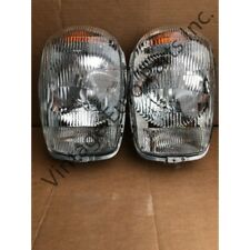 Pair Of Euro Style Headlights & chrome fits Mercedes 230SL 250sl 280sl W113