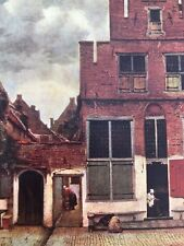 early 1900s medici masters in colour print - the little street in delft