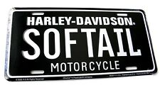 Harley Davidson SOFTAIL Soft tail Metal Embossed Car Auto License Plate Tag NEW