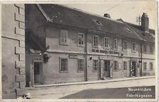 NÖ: Gruß aus Neunkirchen Fabriksgasse ( Fotokarte Gasthaus Anton Binder )
