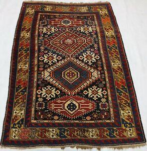 ca.1910 Old Antique Handmade Caucasian Shirwan rug 5,2x3,5 Ft