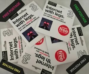 10x Three pay as you go Sim Card with 200MB FREE Data,3G,4G-GPS-Tracking Device