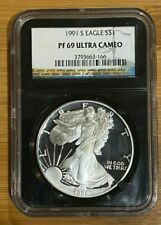 1991-S American Silver Eagle $1 Proof NGC PF 69 Ultra Cameo Black Core  (166)