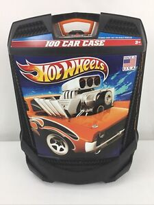 Hot Wheels 100-Car, Rolling Storage Case with Retractable Handle Made In USA