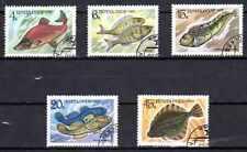 Poissons URSS (7) série complète de 5 timbres oblitérés